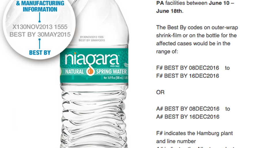 (Screen grab of http://www.niagarawater.com/consumer-notice/)