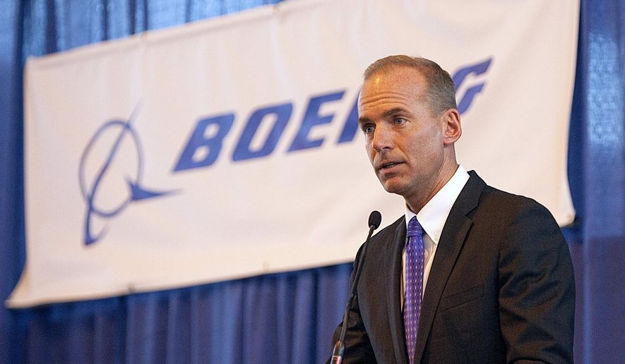 FILE - In this Aug. 19, 2010 file photo, Dennis Muilenburg, then executive vice president of Boeing Co., and president and CEO of Boeing Defense, Space and Security, speaks during a ceremony at MidAmerica Airport in Mascoutah, Ill. Boeing on Tuesday, June 23, 2015 said Muilenburg, now President and Chief Operating Officer, will become its new CEO on July 1. He succeeds Jim McNerney, who is stepping away from the controls after 10 years. (Tim Vizer/Belleville News-Democrat via AP, File)