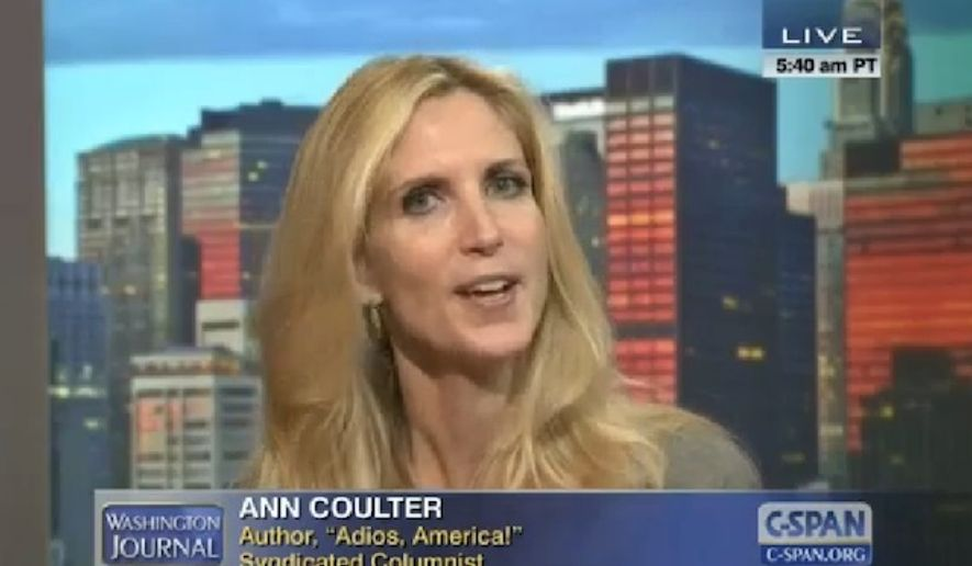Conservative columnist Ann Coulter. (C-SPAN) ** FILE **