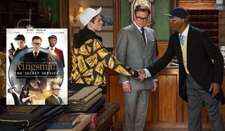 Taron Egerton, Colin Firth and Samuel L. Jackson star in Kingsman: The Secret Service, now on Blu-ray. (Courtesy 20th Century Fox Home Entertainment)
