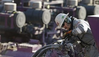The first experimental use of hydraulic fracturing was in 1947, and more than 1 million U.S. oil wells have been fracked since, according to the American Petroleum Institute. The National Petroleum Council estimates that up to 80 percent of natural oil wells drilled in the next decade will require hydraulic fracturing. (Associated Press)