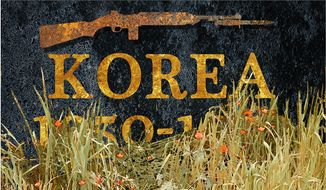 Illustration on the American lapse of memory concerning the Korean War by Alexander Hunter/The Washington Times