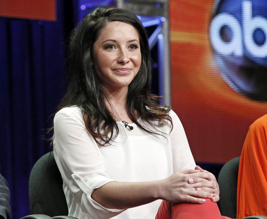 """In this July 27, 2012, file photo, Bristol Palin attends the """"Dancing with the Stars: All Stars"""" panel at the Disney ABC Television Critics Association session in Beverly Hills, Calif. Palin says she's pregnant for a second time. (Photo by Todd Williamson/Invision/AP, FIle)"""