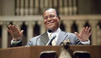 Louis Farrakhan, leader of the Nation of Islam. (Associated Press) ** FILE **