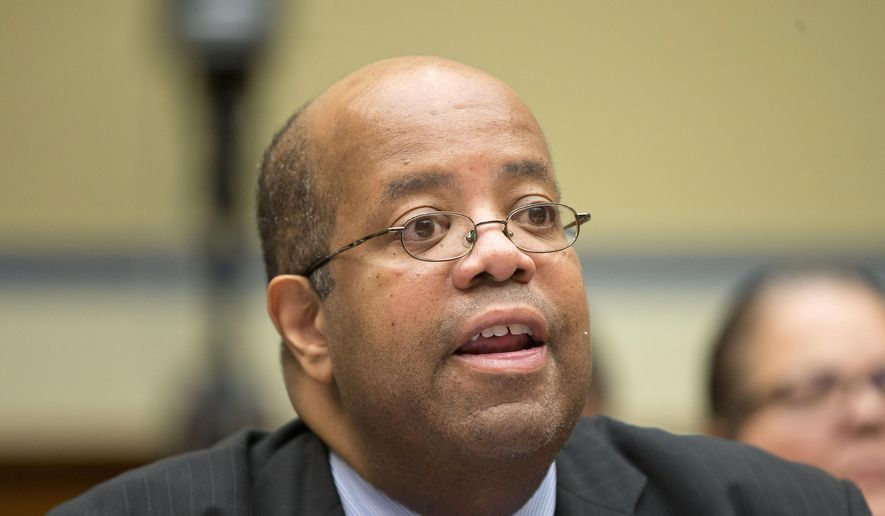 Treasury Inspector General J. Russell George testifies on Capitol Hill in Washington, Thursday, June 25, 2015, before the House Committee on Oversight and Government Reforms hearing on the IRS. (AP Photo/Pablo Martinez Monsivais) ** FILE **