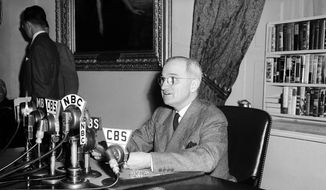 U.S.  President Harry S. Truman. *File photo (AP Photo/File)
