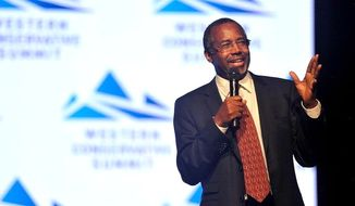 Ben Carson is among seven presidential hopefuls at the Western Conservative Summit in Colorado.