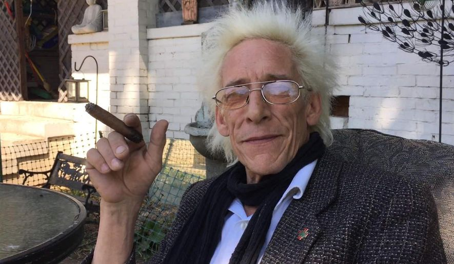 In this photo taken Tuesday, May 19, 2015, Bill Levin, a cannabis advocate and leader of the First Church of Cannabis, poses outside his him in Indianapolis. Levin has said he established the church as a test of the state's Religious Freedom Restoration Act, which gives people the right to follow their religious practices without the heavy hand of government. The Internal Revenue Service has granted it tax-exempt status, and Levin has taken a mortgage on a building that will serve as the church. (Michelle Pemberton/The Indianapolis Star via AP)  NO SALES