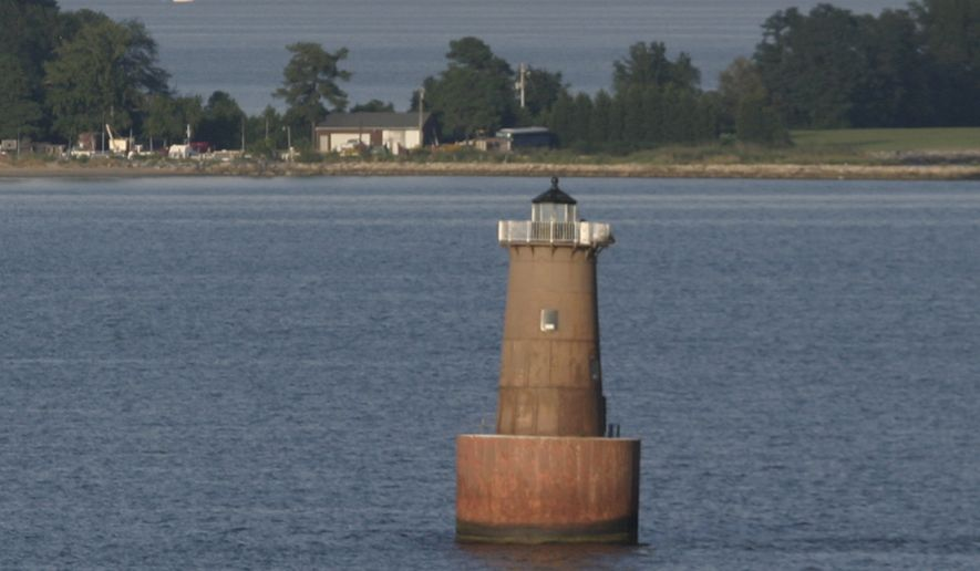 The Bloody Point Bar Lighthouse, located south of Kent Island, Md., dates from the 1880s. (Associated Press)