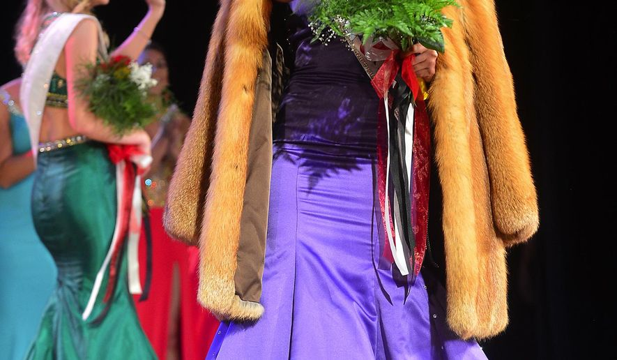 Miss Anne Arundel County, Destiny Clark is crowned Miss Maryland 2015 on Saturday, June 27, 2015, at the Miss Maryland Pageant at The Maryland Theatre in Hagerstown. (Colleen McGrath/The Herald-Mail via AP)