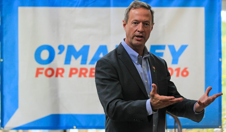 Despite anti-crime credits, former Maryland Gov. Martin O'Malley is failing to gain much traction as a presidential contender. (Associated Press)
