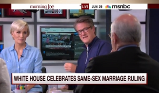 MSNBC co-host Joe Scarborough argued Monday that the Republican presidential candidates who oppose same-sex marriage are simply taking the position that President Obama took three years ago. (MSNBC)