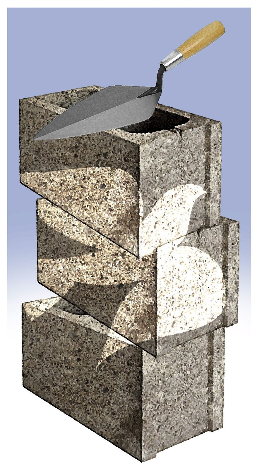 Illustration on building peace between Israel and the Palestinians by Alexander Hunter/The Washington Times