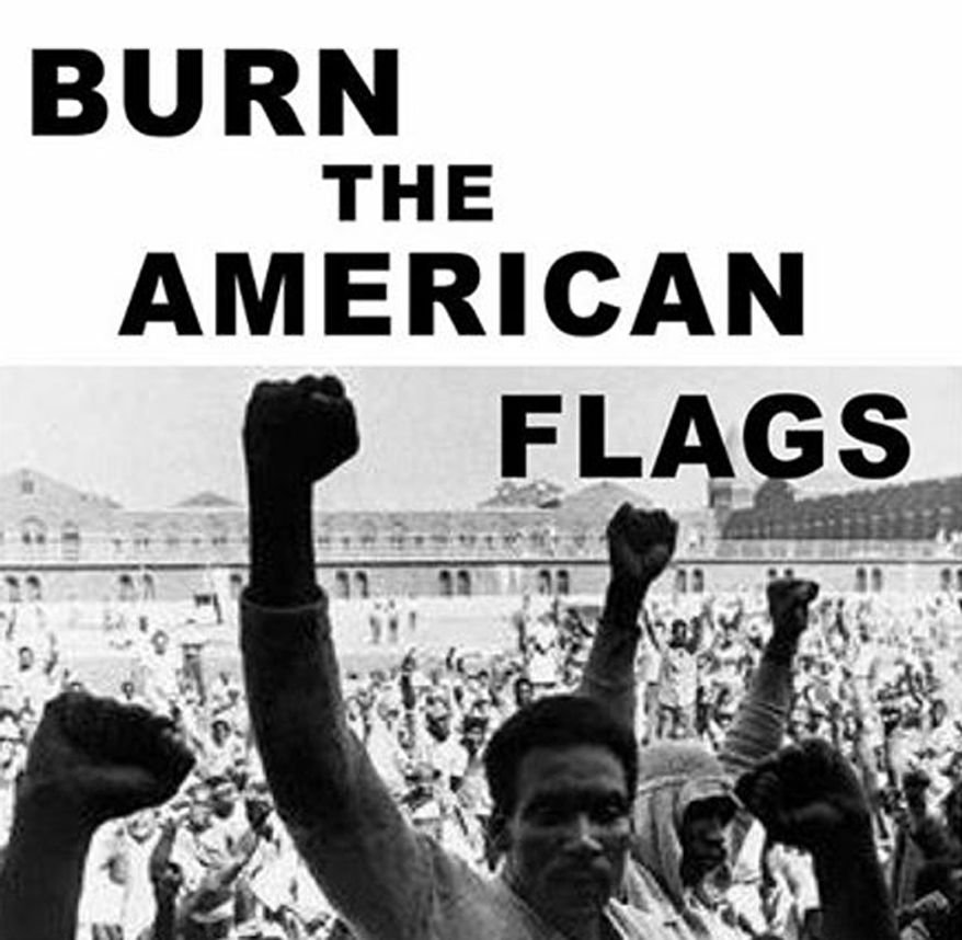 """A group of activists from New York plan to burn the American flag heading into the 4th of July weekend. """"Disarm NYPD"""" is hosting its flag burning event at Fort Greene Park in Brooklyn, N.Y. at 7:30 p.m. (Facebook, Disarm NYPD) ** FILE **"""
