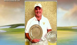 Marine veteran Patrick Wills, 59, shot a 14-under-par for a round of 57 on while competing in Laurel Hill Golf Club's Solstice tournament June 22, 2015. (Image: NBC Sports screenshot) ** FILE **