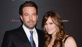 Actor Ben Affleck and wife actress Jennifer Garner attended the 2nd Annual Save the Children Illumination Gala in New York on Nov. 19, 2014.  The couple have decided to divorce after 10 years of marriage, they announced in a joint statement Tuesday, June 30, 2015. The statement notes that the decision comes after careful consideration and that they will stay committed to co-parenting their three children, Violet Affleck, Seraphina Rose Elizabeth Affleck and Samuel Garner Affleck. (Photo by Evan Agostini/Invision/AP, File)