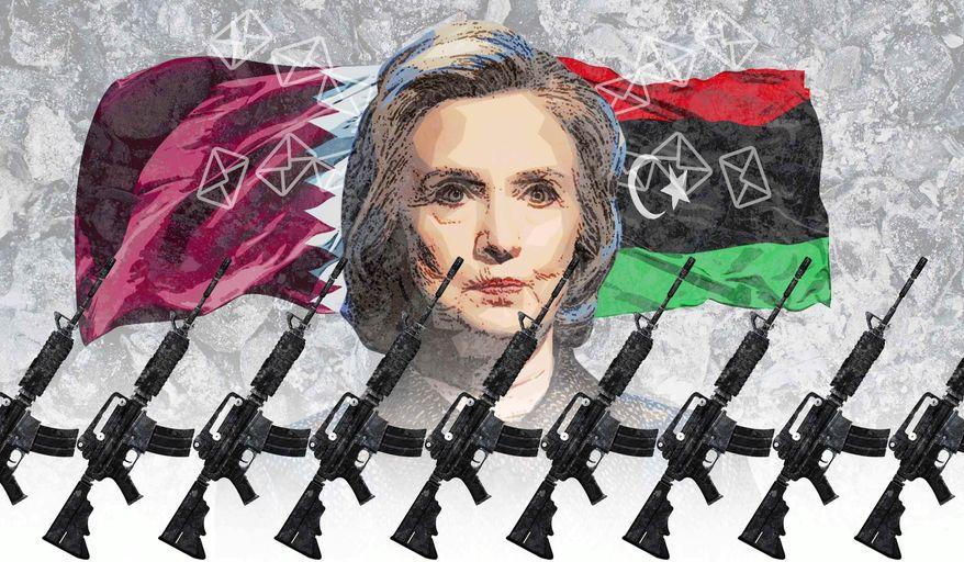 Hillary's Illegal War Illustration by Greg Groesch/The Washington Times