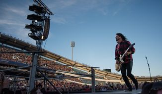 "D.C. Foo Fighters' fans worried Dave Grohl might need to sit out the Independence Day festival, need not fret. ""Can't [expletive] wait for the 4th!!! See you at home, DC,"" the band tweeted Monday. (ASsociated Press)"