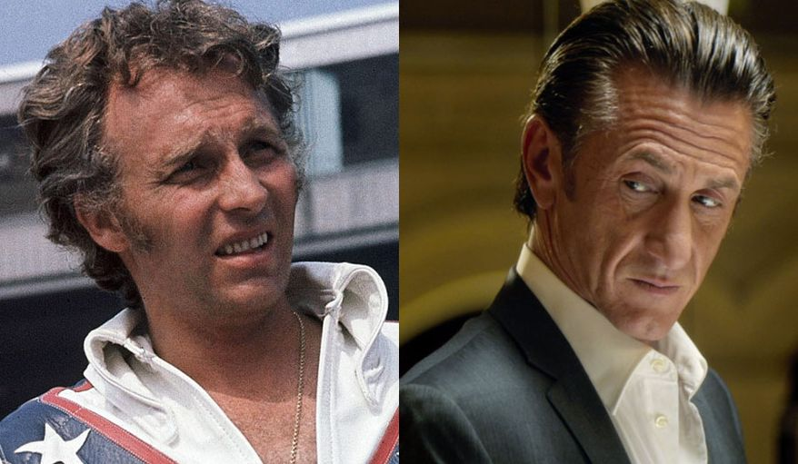 I Am Evel Knievel from Virgil Films and The Gunman starring Sean Penn are now available in the Blu-ray format. (Evel Knievel photo via Associated Press, The Gunman courtesy of Universal Studios Home Entertainment)