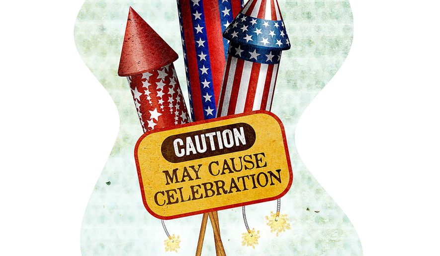 Fireworks Warning Label Illustration by Greg Groesch/The Washington Times