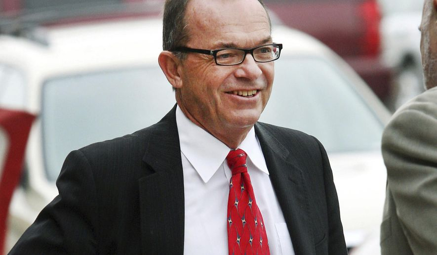 FILE - In this April 29, 2009, file photo, Tim Blixseth arrives at the federal courthouse in Missoula, Mont. Attorneys for the ex-billionaire and real estate developer who's been jailed for more than two months for contempt of court are due before U.S. District Judge Sam Haddon to seek his release. But creditors of Yellowstone Club founder Tim Blixseth have said he should stay behind bars until he comes clean on what he did with $13.8 million from a property sale in Mexico. (AP Photo/Mike Albans, File)