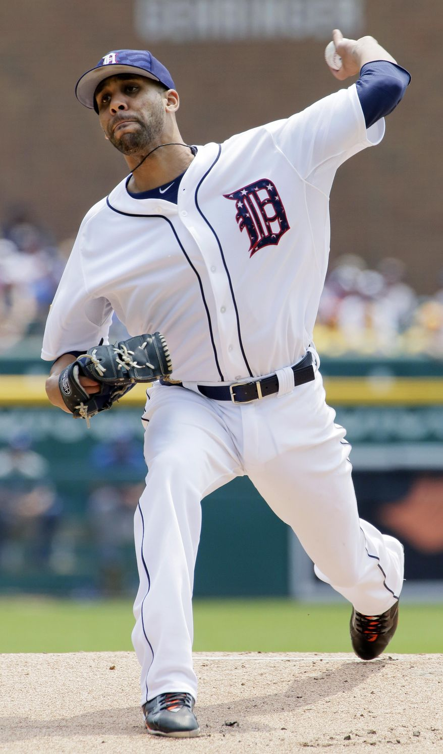Detroit Tigers pitcher David Price delivers against the Toronto Blue Jays during the first inning of a baseball game Saturday, July 4, 2015, in Detroit. (AP Photo/Duane Burleson)