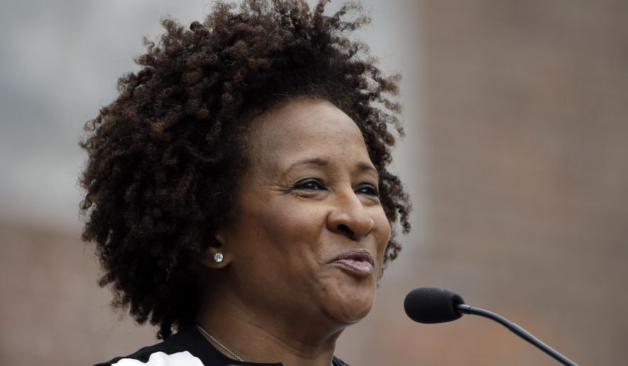 Wanda Sykes speaks during the National LGBT 50th Anniversary Ceremony, Saturday, July 4, 2015, in front of Independence Hall in Philadelphia. The event marks the 50th anniversary of a protest outside Independence Hall that would be a milestone in the fight for gay rights. (AP Photo/Matt Rourke)