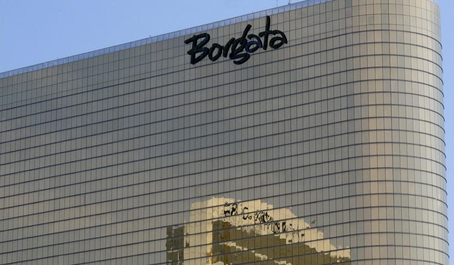 This June 26, 2013 photos shows the exterior of the Borgata casino in Atlantic City, N.J. On Monday July 6, 2015, an appeals court panel upheld a tax court ruling that Atlantic City had overcharged the casino on its 2009 and 2010 property taxes. (AP Photo/Wayne Parry)