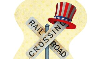 Uncle Sam's Interference in the Railroad Business Illustration by Greg Groesch/The Washington Times