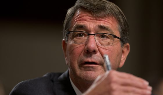 Defense Secretary Ashton Carter said that the U.S. train-and-equip mission to bolster Iraqi and Syrian forces for combat against the Islamic State has been hamstrung due to a lack of local recruits willing to fight the terrorist army. (Associated Press)