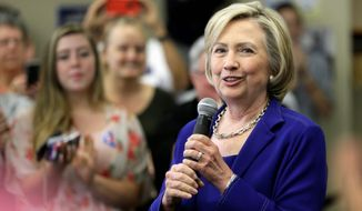 "Presidential candidate Hillary Rodham Clinton decried ""unsubstantiated"" Republican attacks on her. (Associated Press)"