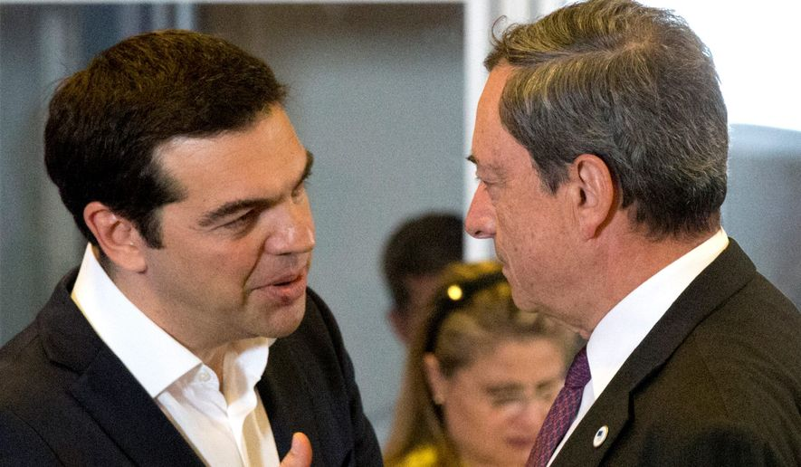 bailout: Greek Prime Minister Alexis Tsipras (left) hopes to work out a rescue deal with European leaders to save his country's economy.