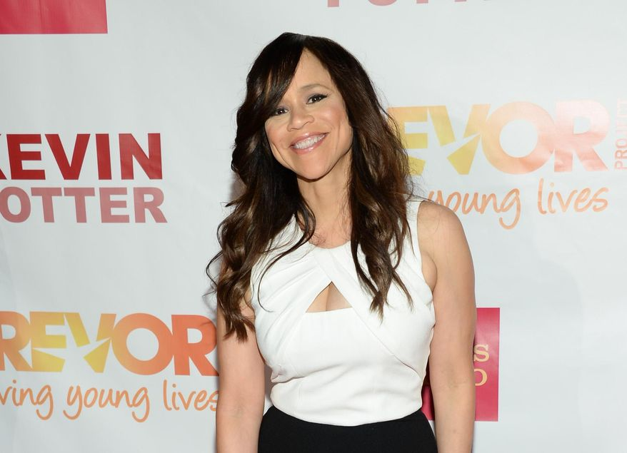 """FILE - In this June 15, 2015 file photo, actress Rosie Perez attends TrevorLIVE New York to benefit The Trevor Project at the Marriott Marquis, in New York. There's more host upheaval ahead for ABC's """"The View,"""" with Perez leaving the daytime talk show. In a memo to """"View"""" staffers Tuesday, July 7, 2015, executive producer Bill Wolff said that Perez has decided to focus on acting. (Photo by Evan Agostini/Invision/AP, File)"""