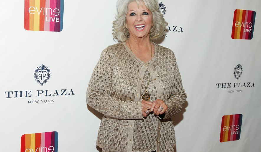 """FILE - In this Feb. 13, 2015 file photo, Paula Deen attends the EVINE Live launch event at The Todd English Food Hall at The Plaza in New York. A spokesman for Deen says she didn't post a 2011 Halloween costume photo on her Twitter account showing her son Bobby in dark makeup as """"I Love Lucy"""" character Ricky Ricardo. Deen spokesman Jaret Keller said Tuesday, July 7, 2015, that a social media manager posted the photo taken in connection with Deen's former Food Network show.   (Photo by Andy Kropa/Invision/AP, File)"""