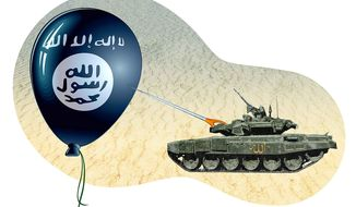 Sunni Alliance Destroys ISIS Illustration by Greg Groesch/The Washington Times