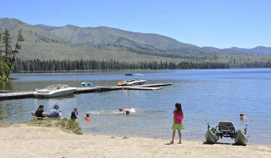 Warm lake is shown june 25 2015 near cascade idaho the for Cascade lake idaho fishing