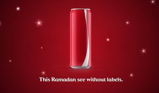 Coca-Cola has introduced a label-free can in Middle Eastern countries for Ramadan that are intended to promote tolerance. (YouTube/Coca-Cola Middle East)