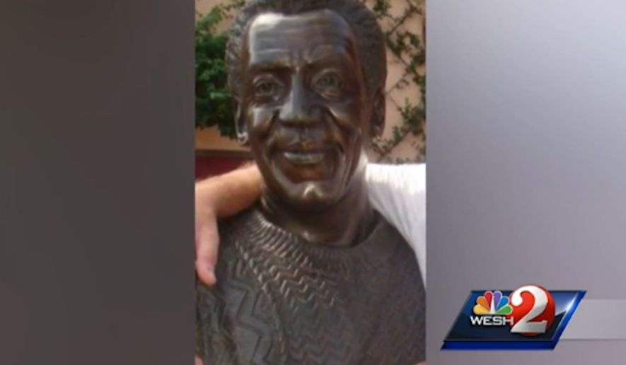 A bronze bust of Bill Cosby was removed Tuesday night from the Walt Disney World Resort near Orlando, Florida, after an unsealed 2005 civil suit revealed that the embattled comedian admitted to obtaining Quaaludes to give to women he wanted to have sex with. (WESH)