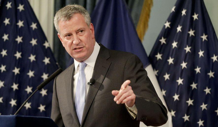 New York City Mayor Bill de Blasio speaks during his executive budget presentation in New York. (AP Photo/Julie Jacobson, Pool, File)