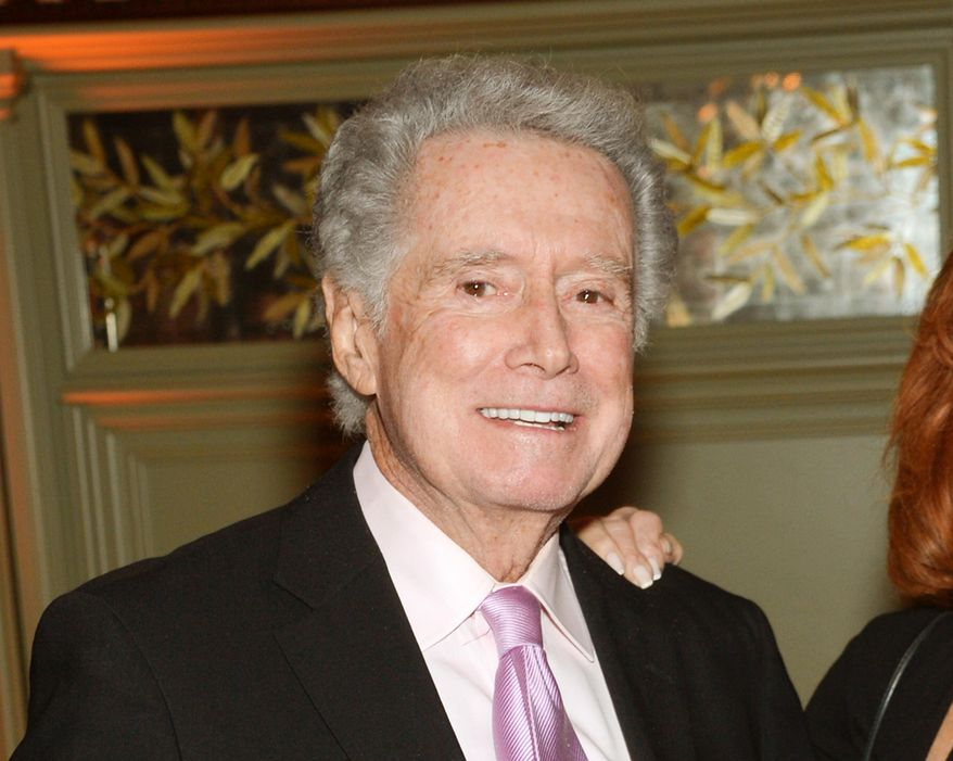 """In this Nov. 17, 2014 file photo, Regis Philbin attends the """"The Imitation Game"""" premiere party in New York. (Photo by Evan Agostini/Invision/AP, File)"""