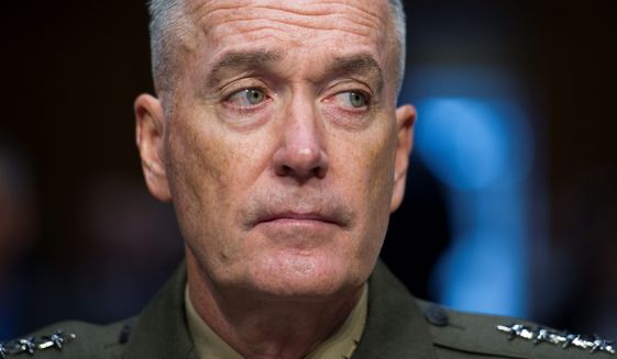 Gen. Joseph Dunford is under scrutiny to be chairman of the Joint Chiefs of Staff. (Associated Press)