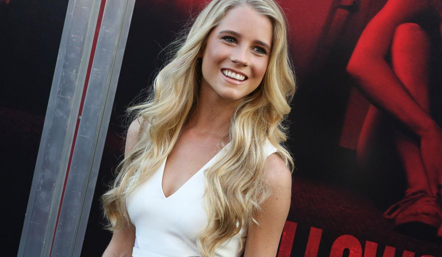 "Cassidy Gifford arrives at the LA Premiere of ""The Gallows"" at Hollywood High School on Tuesday, July 7, 2015, in Los Angeles. (Photo by Rich Fury/Invision/AP)"