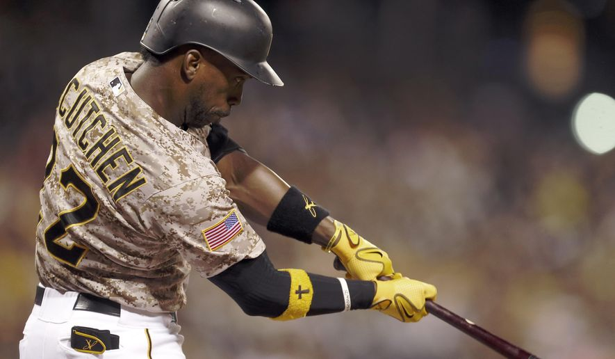 Pittsburgh Pirates' Andrew McCutchen hits a home run during the ninth inning of a baseball game against the St. Louis Cardinals, Thursday, July 9, 2015, in Pittsburgh. The Cardinals won 4-1. (AP Photo/Keith Srakocic)