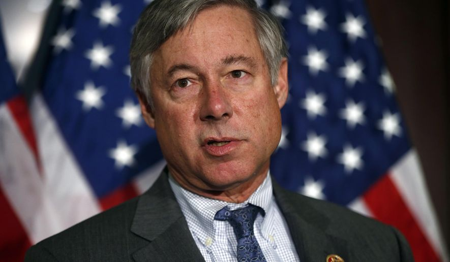 """FILE - In this Nov. 13, 2013, file photo, Rep. Fred Upton, R-Mich., speaks in Washington.  Pressed by industry and patients' groups, the House is nearing approval of a bipartisan bill that would speed federal approval of drugs and medical devices and boost biomedical research. """"We have a chance to do something big, and this is our time,"""" said Upton. (AP Photo/Charles Dharapak, File)"""