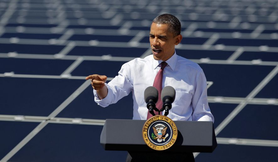 Despite President Obama's hailing clean energy as the next great thing for America, watchdog groups say that government subsidies for solar power have led to artificial demand. (Associated Press)