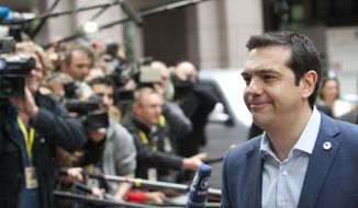 """Greek Prime Minister Alexis Tsipras said on arrival at the summit in Brussels that he wanted """"another honest compromise"""" to keep Europe united. (Associated Press)"""
