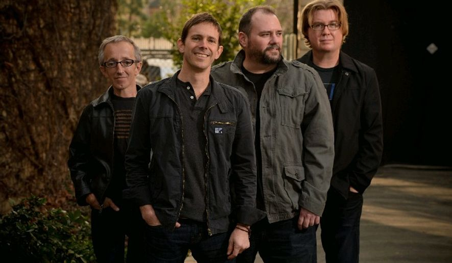 Toad the Wet Sprocket members (from left) are drummer Randy Guss, lead vocalist and guitarist Glen Phillips, lead guitarist and vocalist Todd Nichols, and bassist Dean Dinning.