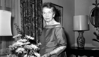 Margaret Sanger, founder of Planned Parenthood and advocate of birth control, is shown at New York's Waldorf Astoria hotel in 1961. (Associated Press/File)