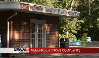 Police were called to the Redwood Flea Market in Wallingford, Connecticut, on Sunday after a shopper took offense to the Confederate and Nazi memorabilia being sold by a local vendor. (WTNH)
