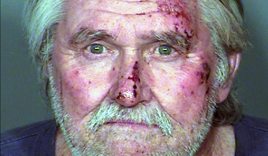 FILE - This Feb. 2, 2015, file booking photo provided by Las Vegas Metropolitan Police Department shows Larry Reid, the 73-year-old brother of U.S. Senate Democratic Leader Harry Reid. A lawyer entered no contest pleas Tuesday, July 14, 2015, for Reid on misdemeanor driving under the influence and resisting arrest charges to close a case stemming from an arrest five months ago. (Las Vegas Metropolitan Police Department via AP Photo, File)
